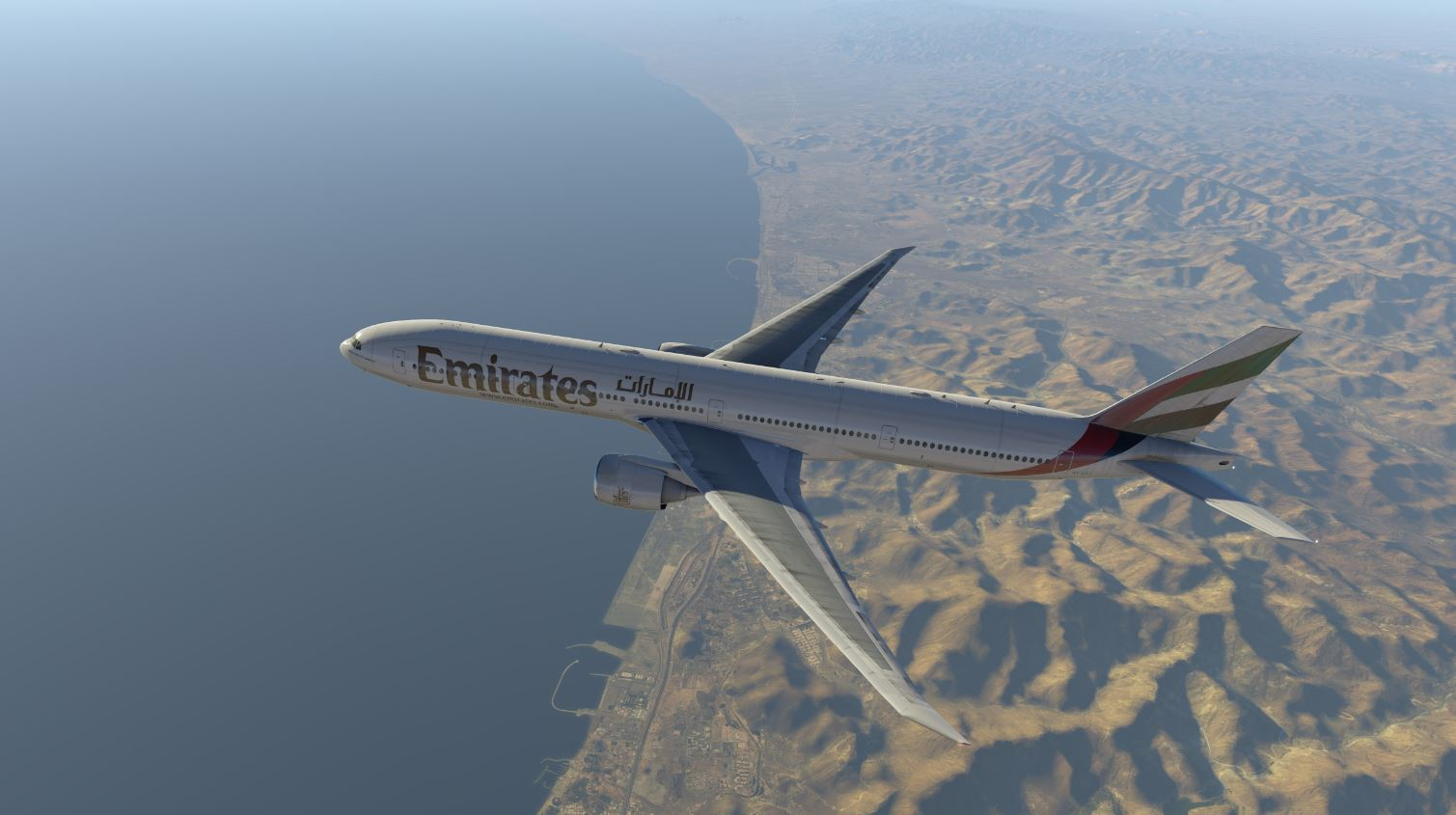 UAE #600 On the way to Karachi.