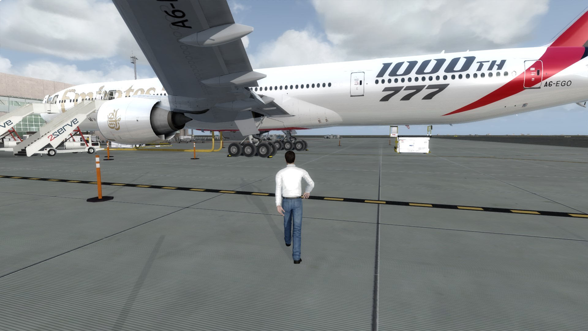 Last check before departure from Larnaca / UAE110