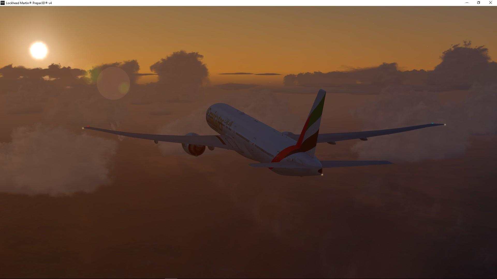 UAE 417 over Australia Desert
