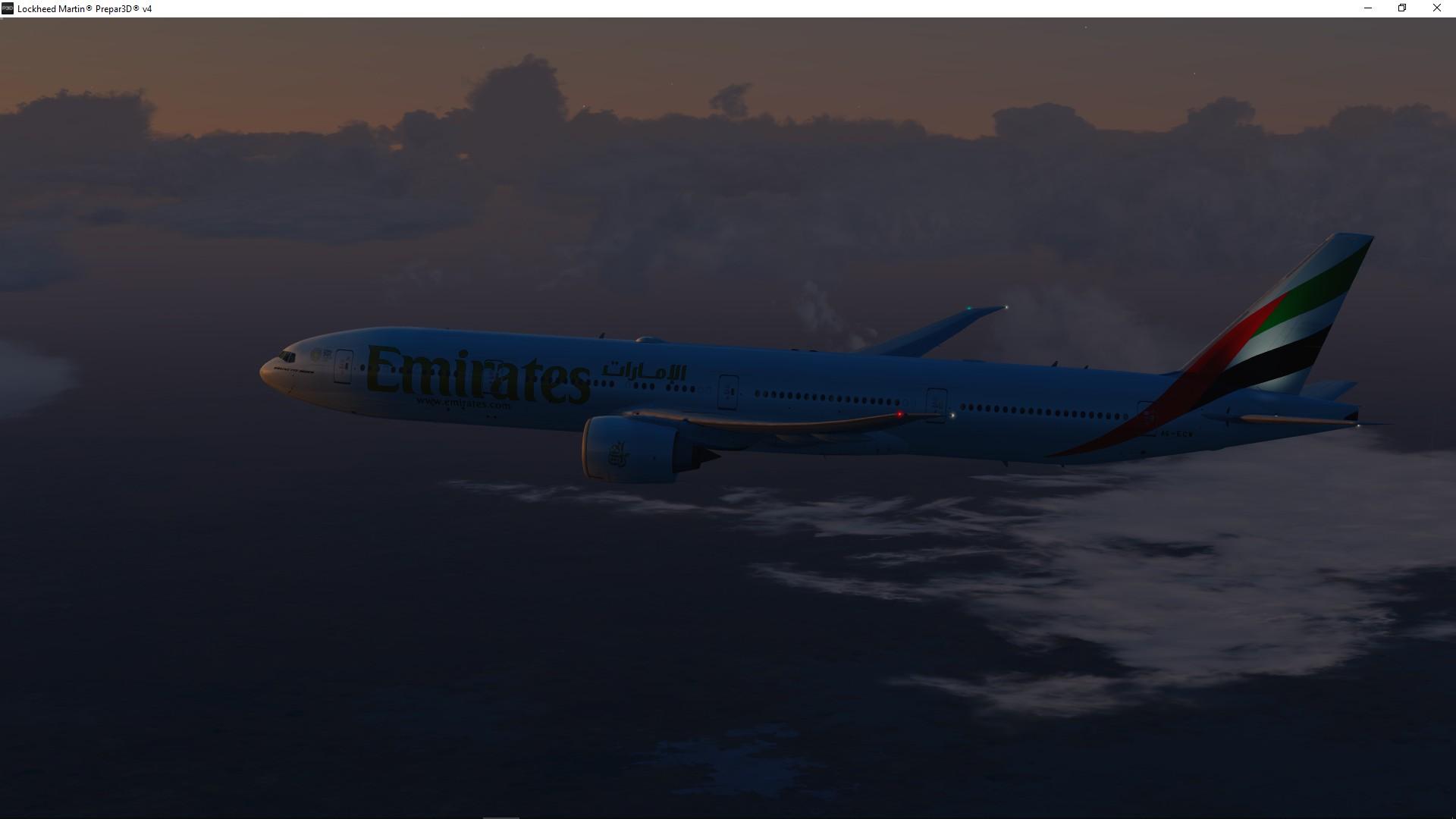 UAE417 YSSY - OMDB over Australia Desert