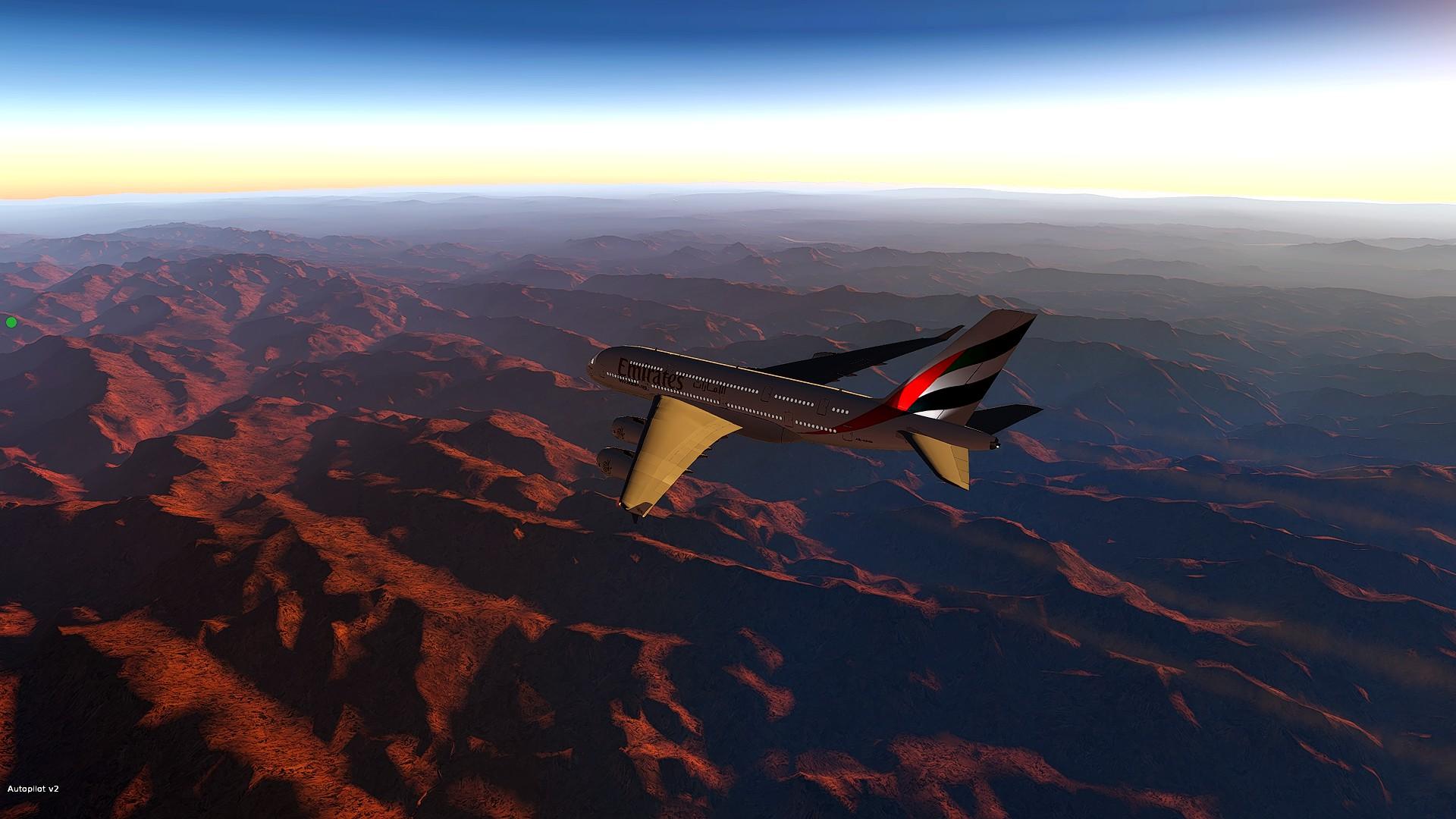 From OMDB to EGLL above Iran desert #UAE1